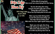 Mừng Ngày Độc Lập Hoa Kỳ & Ngày Đầu Tháng Bảy
